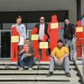 Pressekonferenz zur Asyltour am 10.04.2015 in Dresden